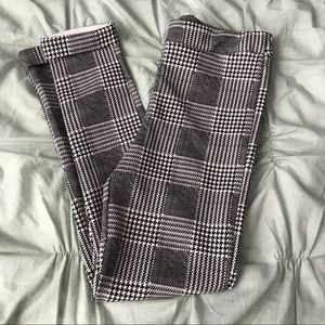 Boohoo plaid stretch pants